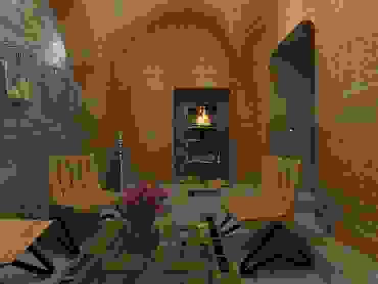 Лаунж зона в офисе Офисные помещения в тропическом стиле от Дизайн студия Марины Геба Тропический
