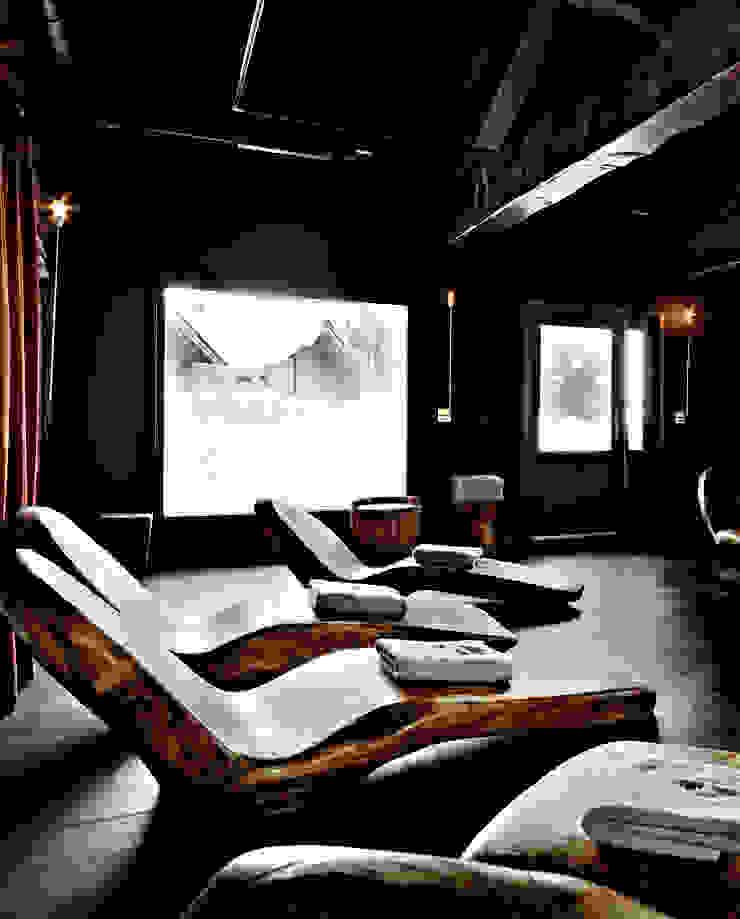 Entspannungsraum im Chalet Ausgefallene Hotels von schienbein+pier Ausgefallen
