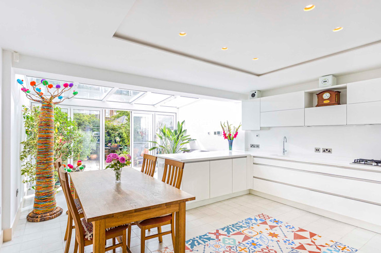 Wintergarden Kitchen Extension - Haper Road - SE1 London Cocinas de estilo moderno de Designcubed Moderno
