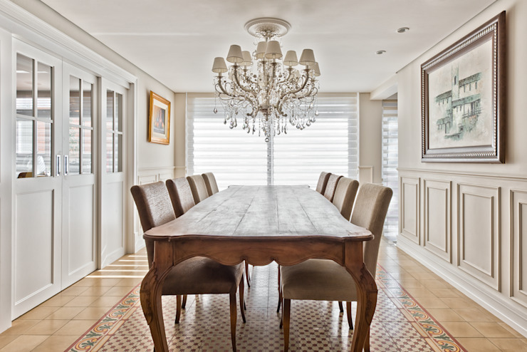 Dining room by UNION Architectural Concept, Classic Wood Wood effect