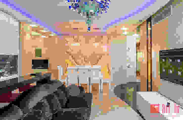 Роскошный оникс в Умном Доме Гостиные в эклектичном стиле от Art-In Эклектичный