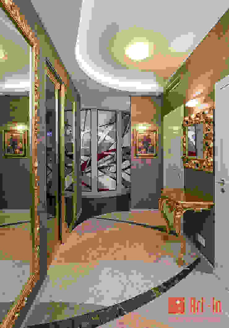 Роскошный оникс в Умном Доме Коридор, прихожая и лестница в эклектичном стиле от Art-In Эклектичный