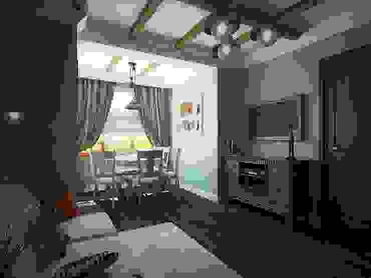 Living room by Дизайн студия Алёны Чекалиной, Industrial