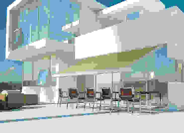 Tenda per Esterni Bar & Club moderni di Els Home Moderno Alluminio / Zinco