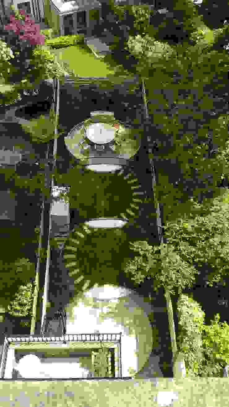 Regent's Park Terrace Aralia Classic style garden Stone Green