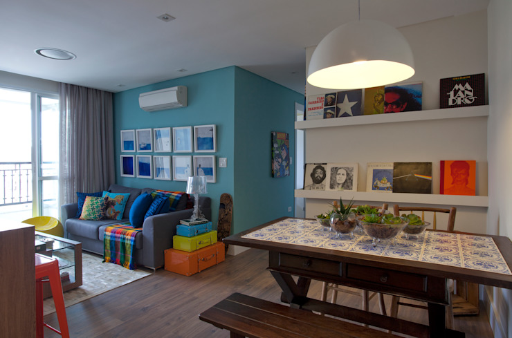 UNION Architectural Concept Modern living room Solid Wood Blue