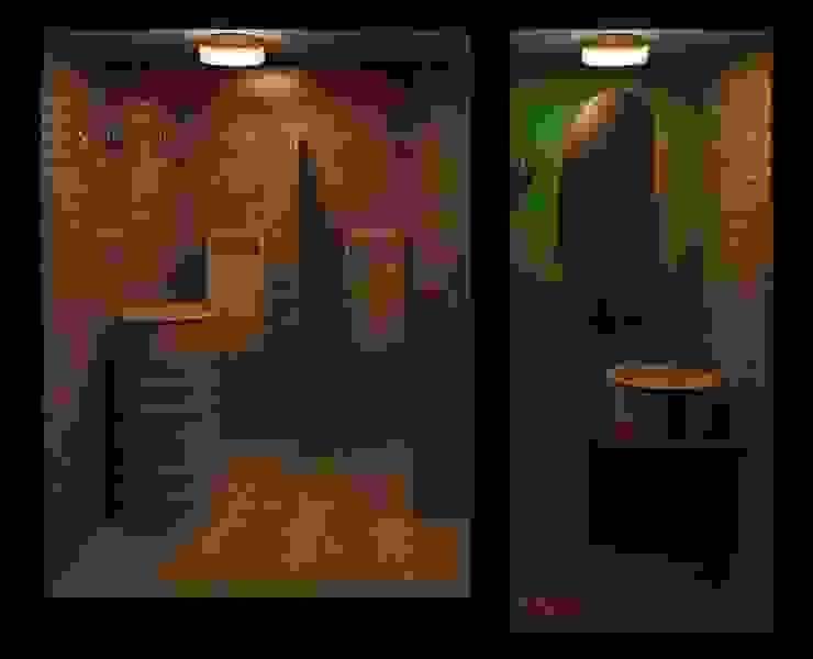 Banheiro Masculino de Restaurante Espaços gastronômicos rústicos por Henrique Thomaz Arquitetura e Interiores Rústico