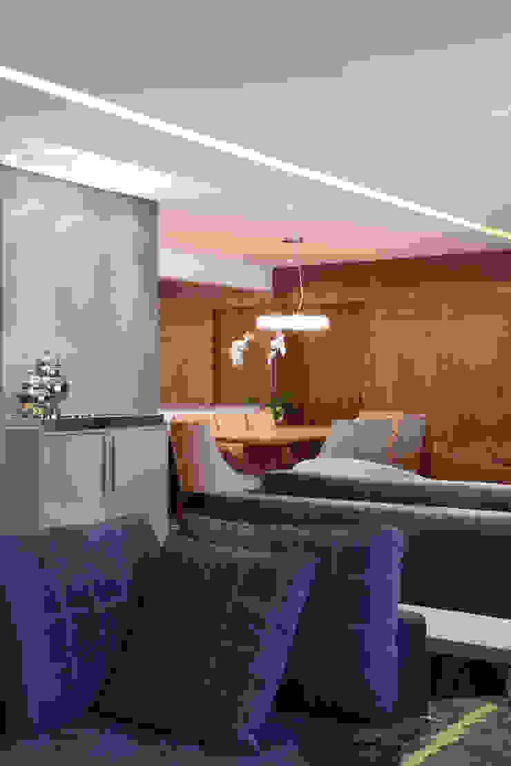 Apartamento Erédita Salas de estar modernas por GRACIELA PIÑERO ARQUITETURA E DECORAÇÃO Moderno