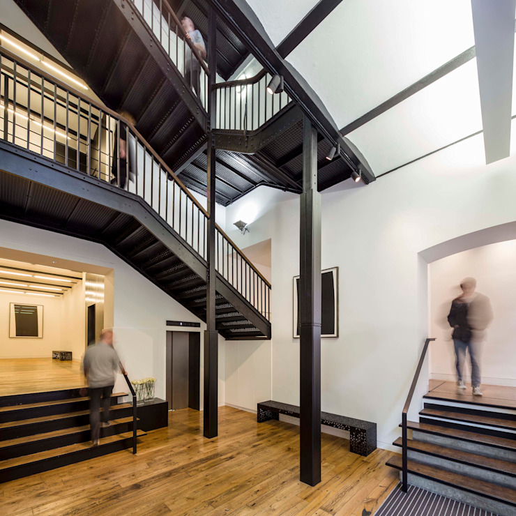 Greencoat House Squire and Partners モダンスタイルの 玄関&廊下&階段