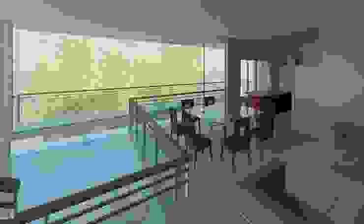Mezanino/jantar Salas de jantar modernas por Henrique Thomaz Arquitetura e Interiores Moderno