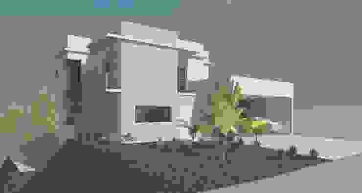 Fachada frontal Casas modernas por Henrique Thomaz Arquitetura e Interiores Moderno