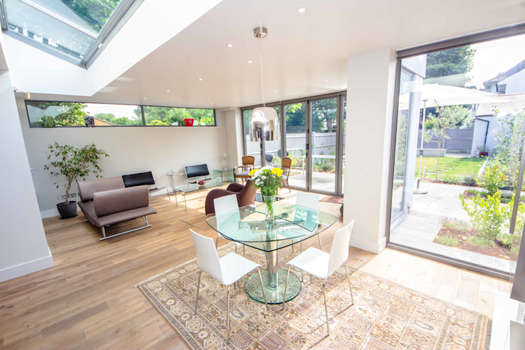 HOUSE EXTENSION & LOFT CONVERSION IN SW LONDON Modern Dining Room by DPS ltd. Modern