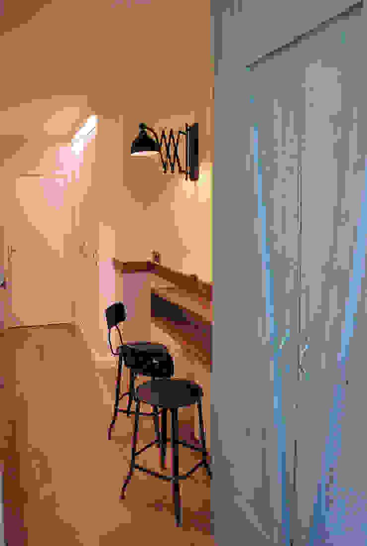 Vicente Galve Studio Cuisine industrielle Bois massif Effet bois