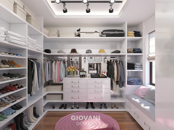 Minimalist dressing room by Giovani Design Studio Minimalist