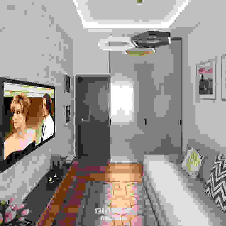 Гостевая комната Giovani Design Studio Медиа комната в стиле минимализм