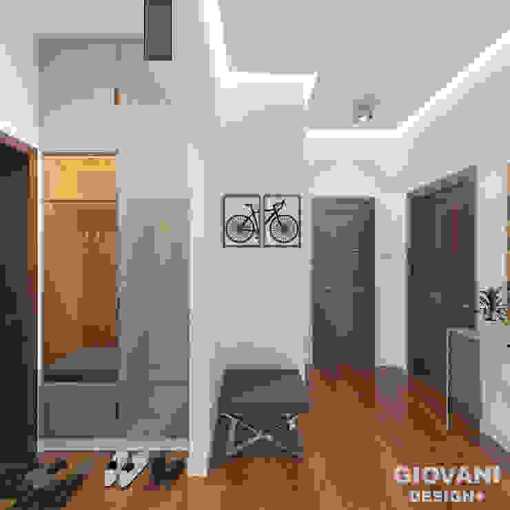 Прихожая. Коридор Giovani Design Studio Коридор, прихожая и лестница в стиле минимализм