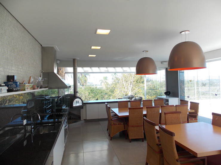 Area Gourmet Piscinas modernas por Guilherme Celeste Arquitetura Moderno
