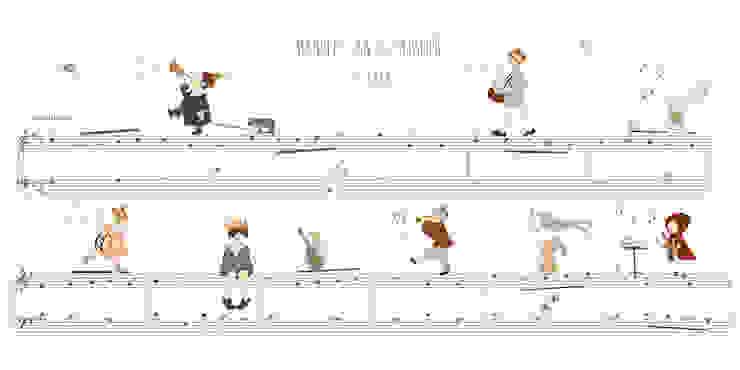 Minuet in G Major por Little Hands Moderno Papel