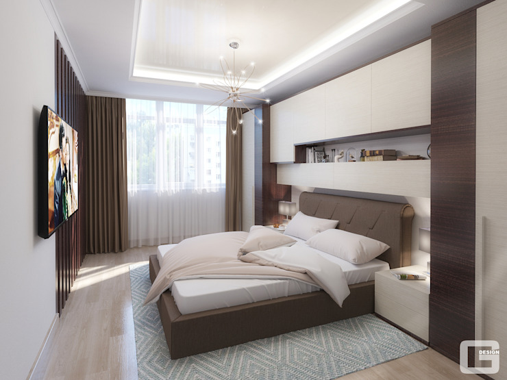 Giovani Design Studio의  침실, 에클레틱 (Eclectic)