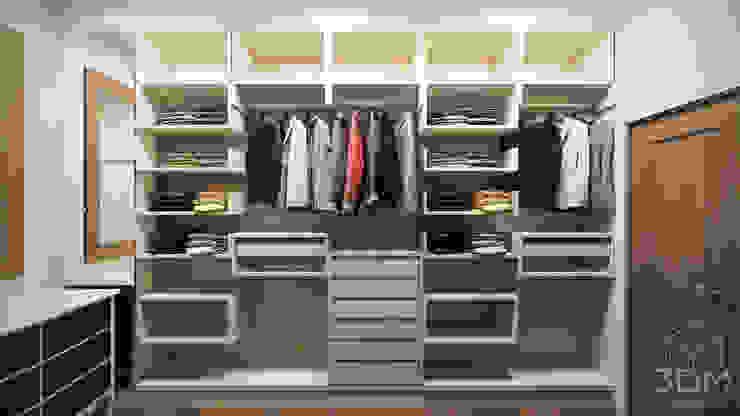 Closets de estilo minimalista de студия визуализации и дизайна интерьера '3dm2' Minimalista