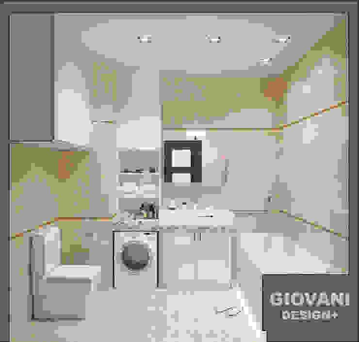 Солнечная квартира для молодой семьи Ванная комната в скандинавском стиле от Giovani Design Studio Скандинавский