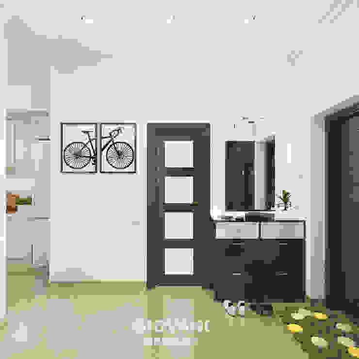 Солнечная квартира для молодой семьи Коридор, прихожая и лестница в скандинавском стиле от Giovani Design Studio Скандинавский