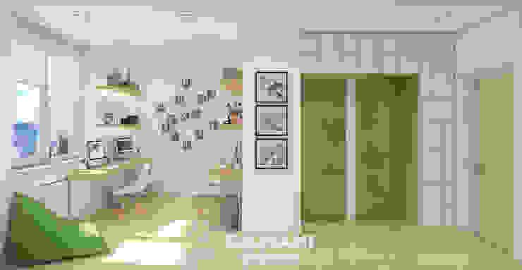 Ruang Studi/Kantor Gaya Industrial Oleh Giovani Design Studio Industrial