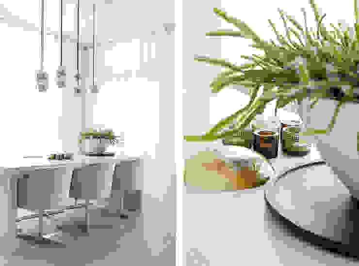 Appartement aan Zee Grego Design Studio Moderne eetkamers