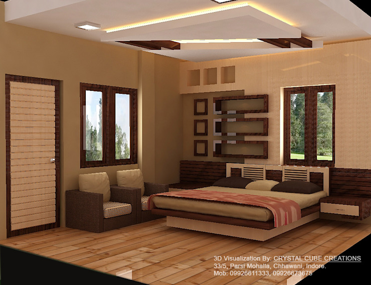 a bed room project Modern style bedroom by M Design Modern