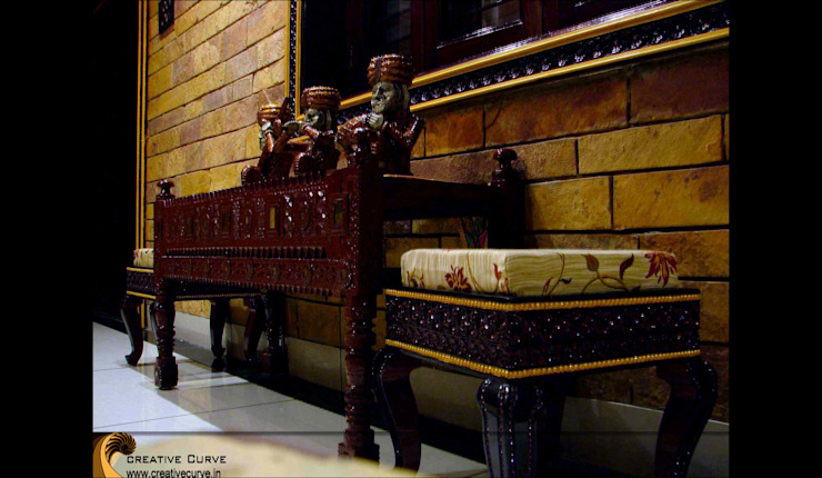 Traditional Interior design Asian style corridor, hallway & stairs by Creative Curve Asian