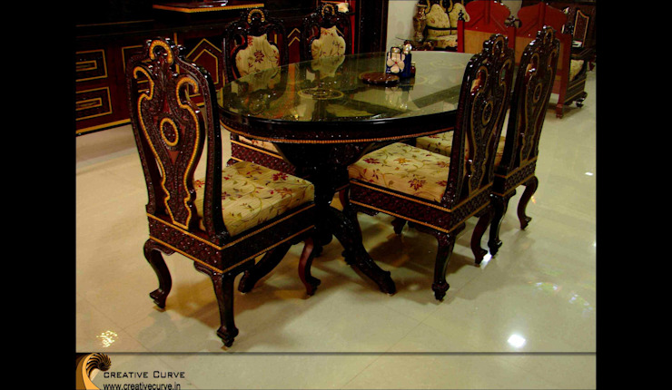 Traditional Interior design Asian style dining room by Creative Curve Asian