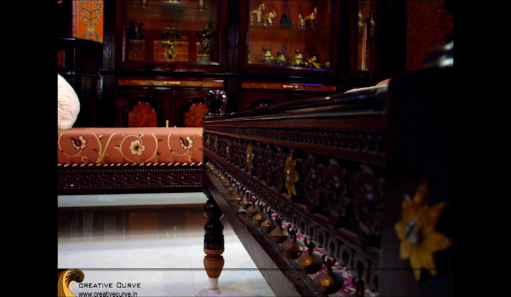 Traditional Interior design Asian style living room by Creative Curve Asian