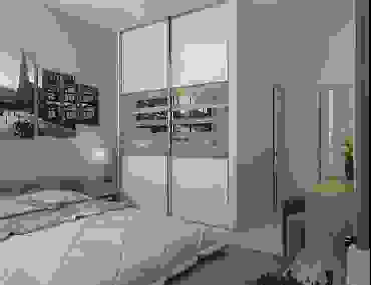 Урбанистический уют Спальня в эклектичном стиле от Ирина Альсмит Эклектичный