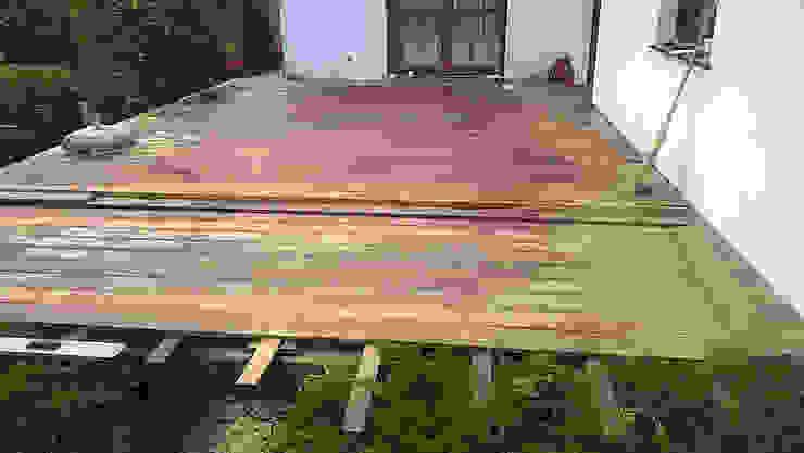 Taras drewniany. Realizacja w Chwalecicach koło Gorzowa Wlkp. od PHU Bortnowski
