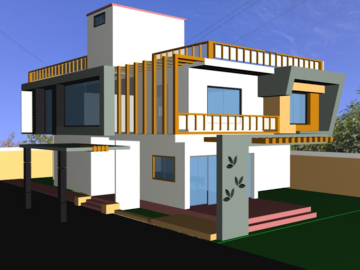 bungalow project Modern houses by M Design Modern