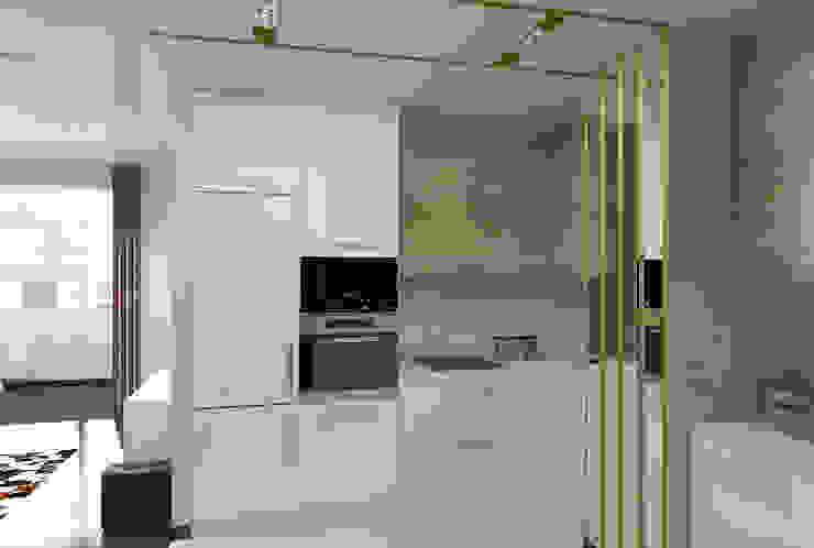 Квартира для молодой семьи Кухни в эклектичном стиле от Ирина Альсмит Эклектичный