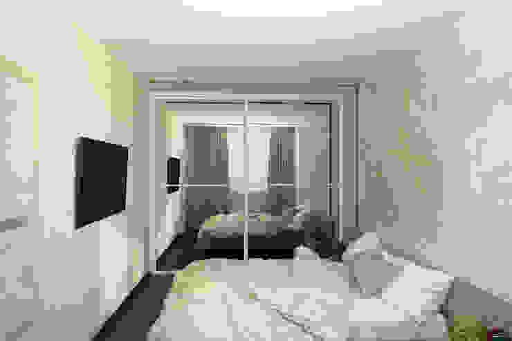 Квартира для молодой семьи Спальня в эклектичном стиле от Ирина Альсмит Эклектичный