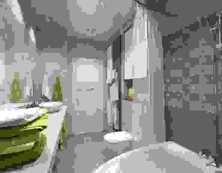 Квартира для молодой семьи Ванная комната в эклектичном стиле от Ирина Альсмит Эклектичный