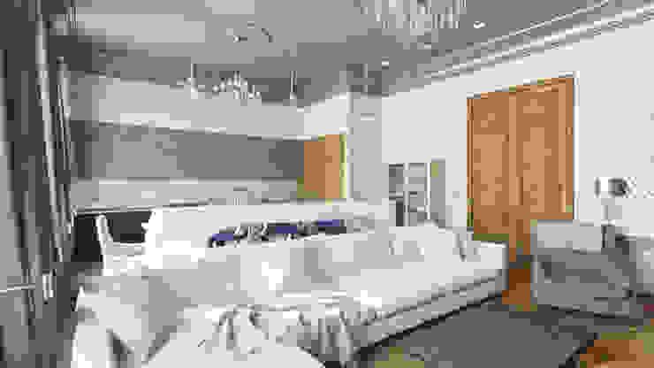 Квартира на Пречистенке FAOMI Гостиная в скандинавском стиле
