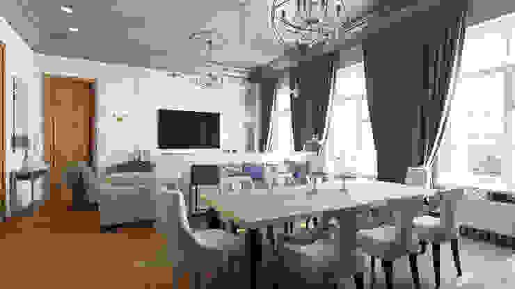 Квартира на Пречистенке FAOMI Столовая комната в скандинавском стиле