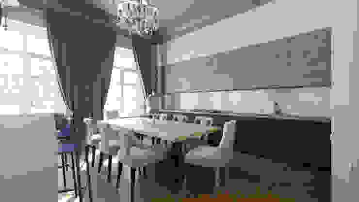 Квартира на Пречистенке FAOMI Кухня в скандинавском стиле