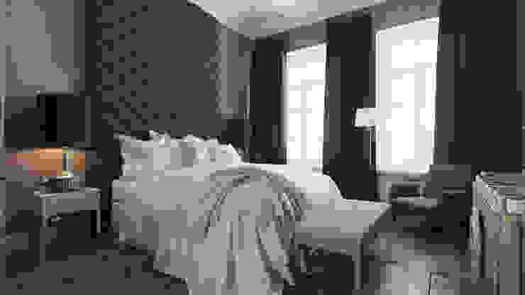 Квартира на Пречистенке FAOMI Спальня в скандинавском стиле