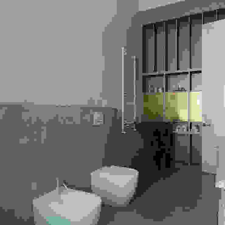 Квартира на Пречистенке FAOMI Ванная комната в скандинавском стиле