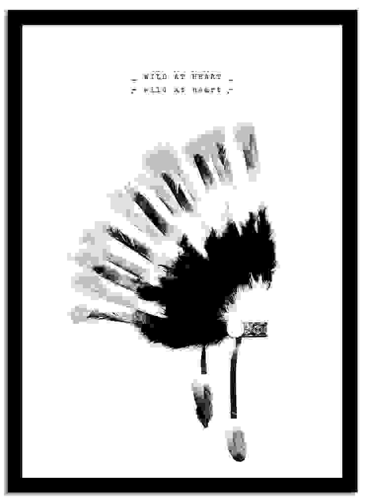 Poster Wild at Heart van Puurrr Scandinavisch