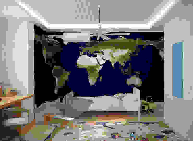 Dormitorios infantiles de estilo escandinavo de Студия интерьерного дизайна happy.design Escandinavo