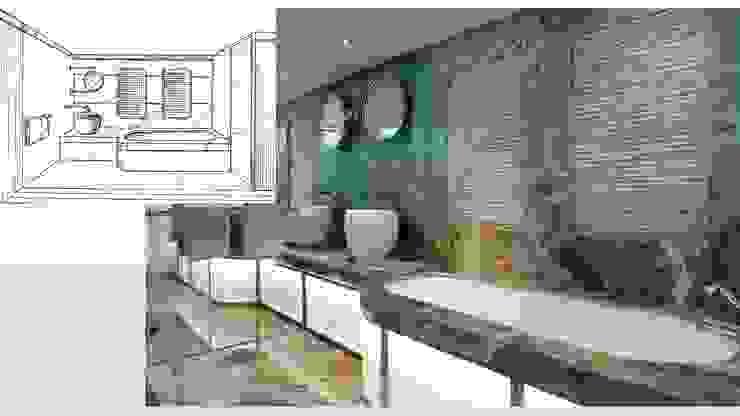 Ванная комната в стиле модерн от ARCHITECTURAL DECO Модерн