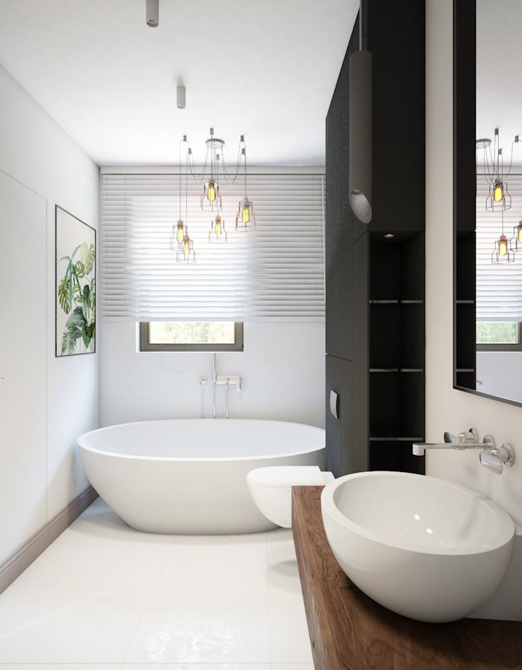 Scandinavian style bathrooms by Finchstudio Scandinavian
