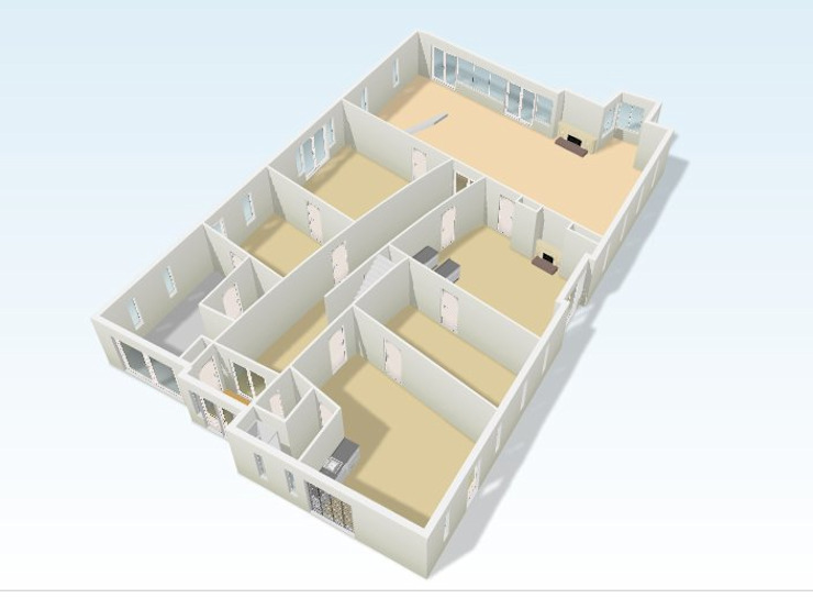 Plattegrond van architectenburo KLAMER bna
