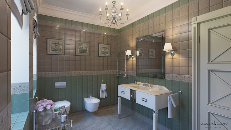 Ванная комната Ванная комната в скандинавском стиле от Евдокимов Скандинавский