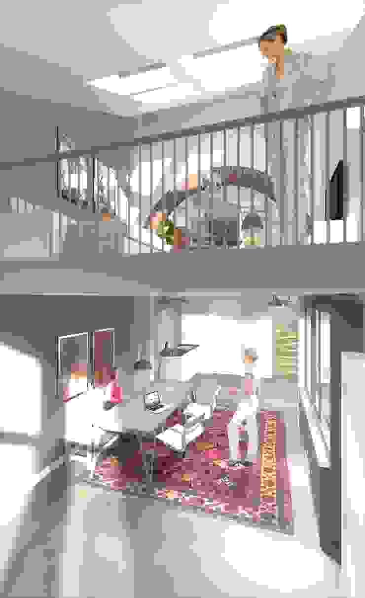 wonen in de ijzergieterij Industriële studeerkamer van architectenburo frans van roy Industrieel